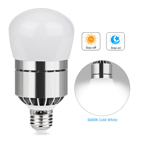 E26/E27 Light Sensor Dusk to Dawn LED Lights Bulb 12W 1200LM