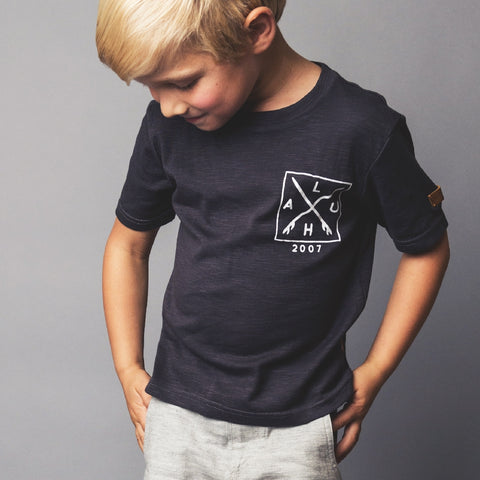 LOVE HENRY BOYS GRAPHIC TEE - CHARCOAL SURF LOGO 3