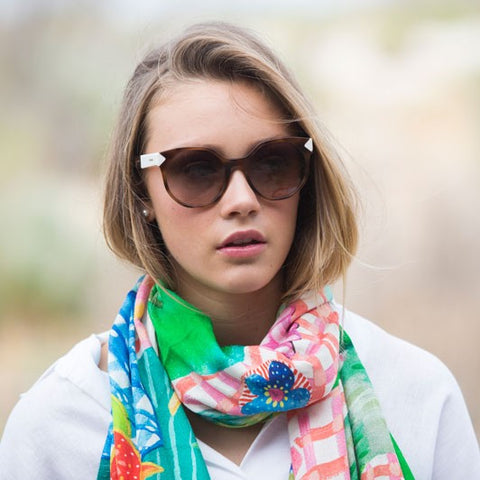 ELIZA PIRO LONG WINTER SILK SCARF - TUTTI FRUTTI