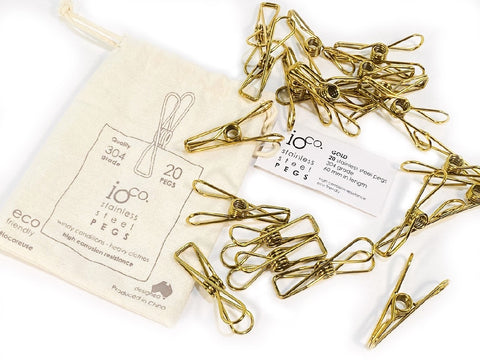 IOCO STAINLESS STEEL PEGS - GOLD 20