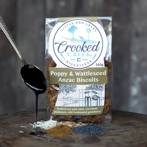CROOKED CREEK- POPPY AND WATTLE ANZACS 160G