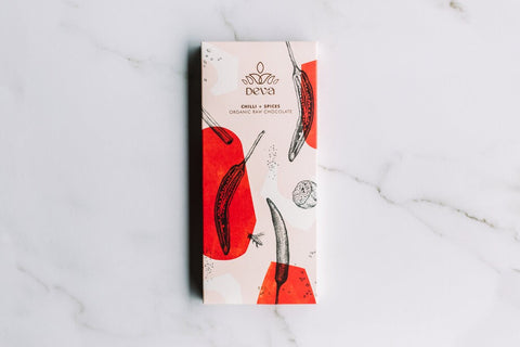 DEVA CACAO - CHILLI AND SPICE 85G