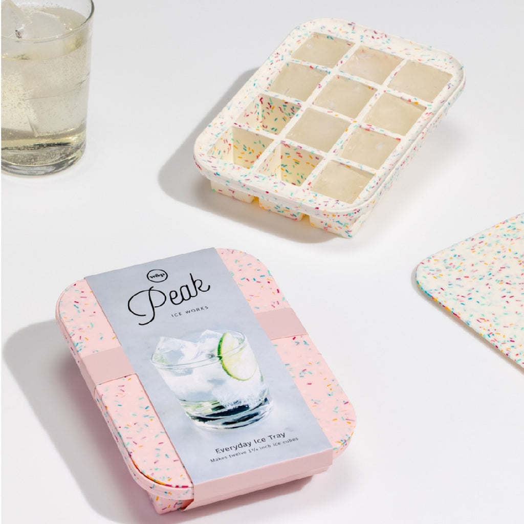 PEAK - ICE CUBE TRAY EVERYDAY SPECKLED - WHITE