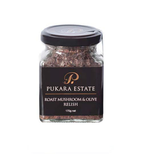 PUKARA ESTATE ROAST MUSHROOM & OLIVE RELISH 170G