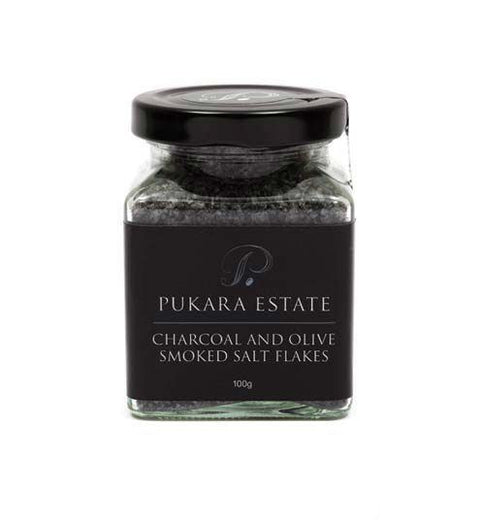PUKARA ESTATE CHARCOAL AND OLIVE SMOKED SALT FLAKES
