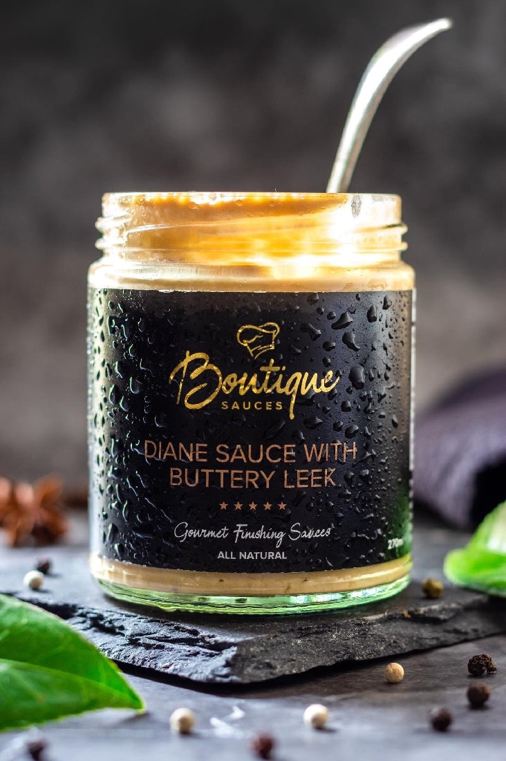 BOUTIQUE SAUCES - DIANE SAUCE WITH BUTTERY LEEK 270ML