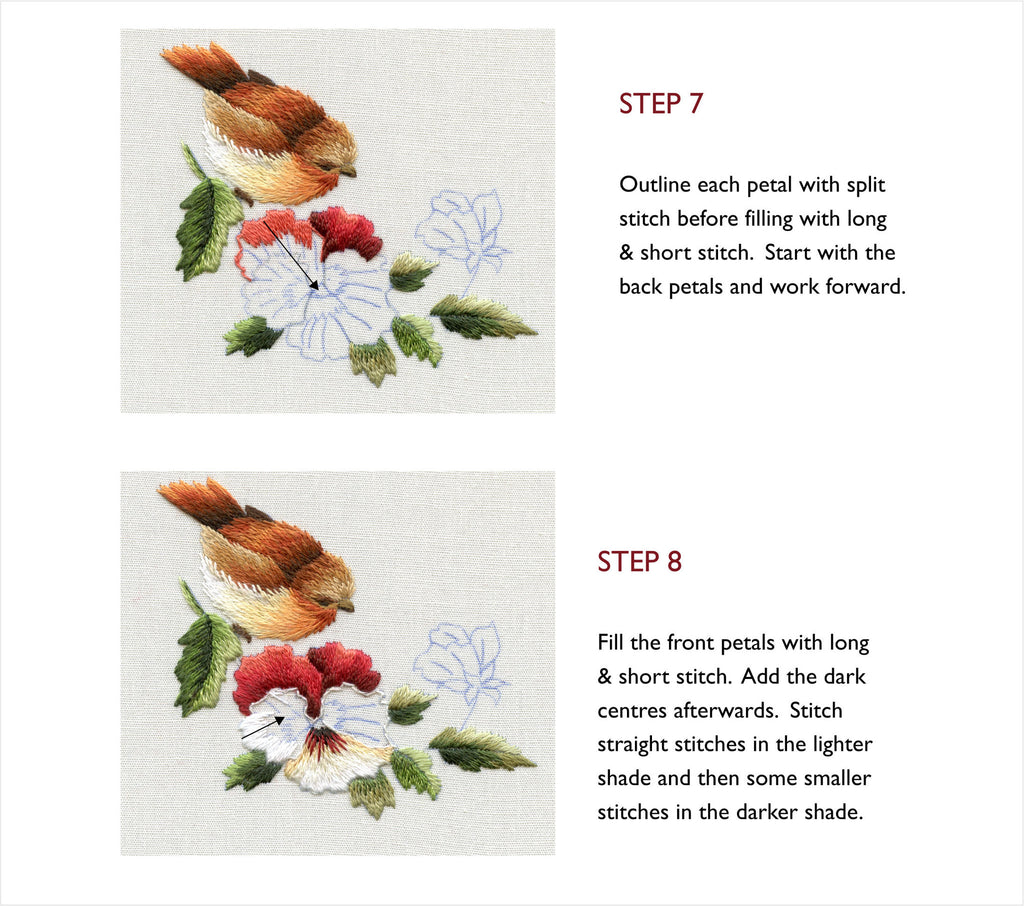 Lesson In Miniature Vintage Robin & Pansies