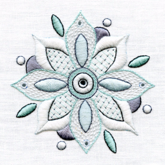 Lesson In Whitework Flower Mandala
