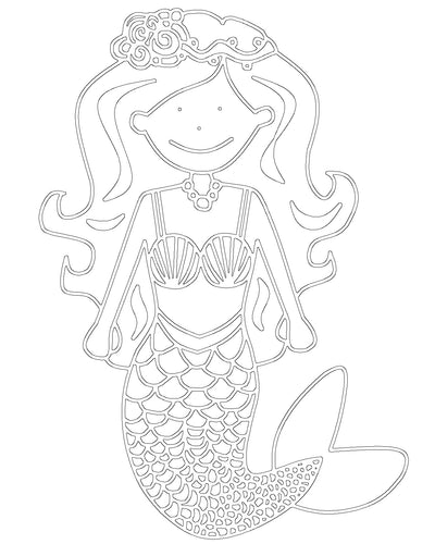 Free Mermaid Printable Colouring In Picture
