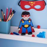Superhero wooden shelfie-Wooden shelfies-Storklings-Storklings