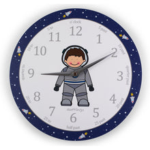 astronaut clock for kids