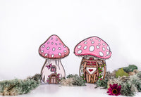 Mushroom Fairy House Shelfie-Wooden shelfies-Storklings-Storklings