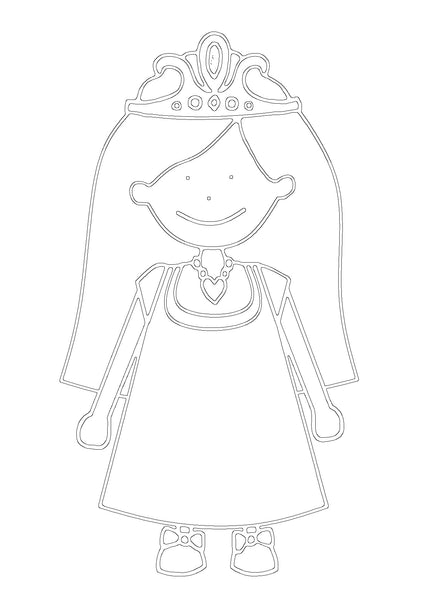 Free Princess Printable Colouring In Picture-Storklings-Storklings