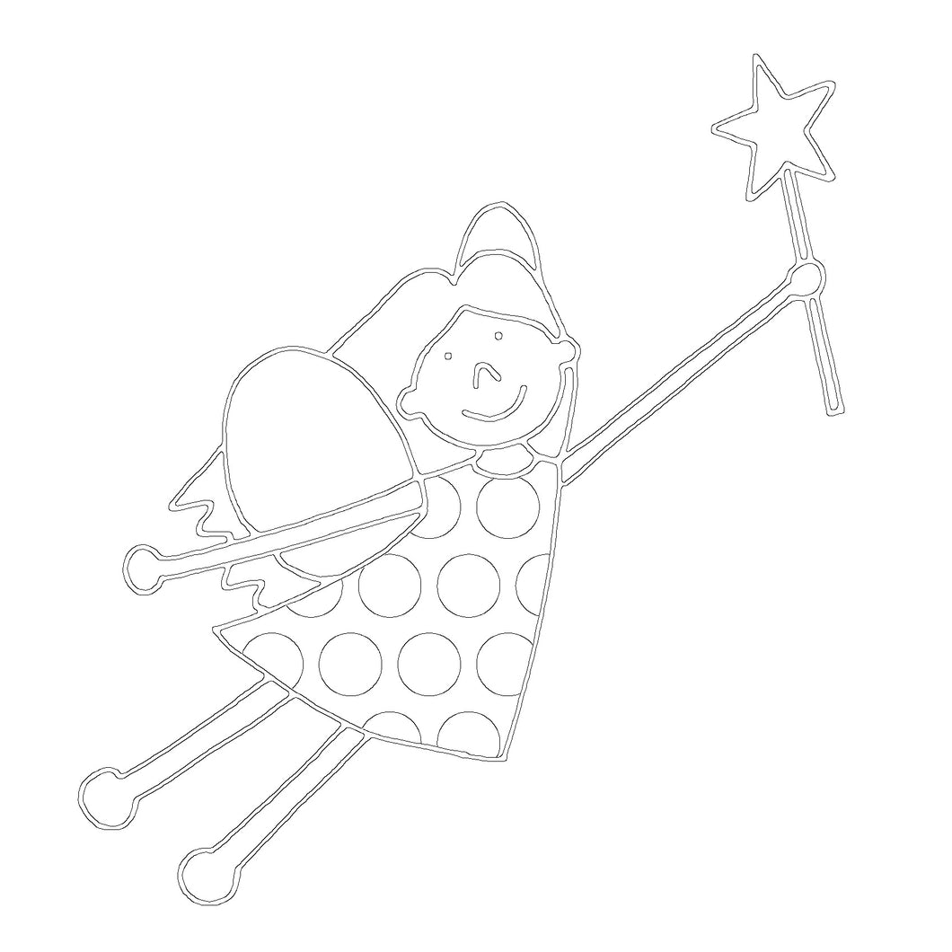 Free Fairy Printable Colouring In Picture