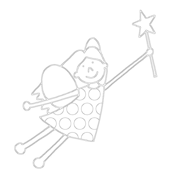 Free Fairy Printable Colouring In Picture-Storklings-Storklings