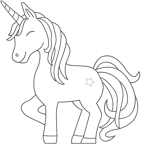 Free Unicorn Printable Colouring In Picture