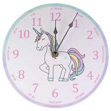 Unicorn Rainbow Clock