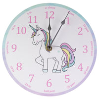 Unicorn Rainbow 'teach the time' Clock-Clocks-Storklings-Storklings