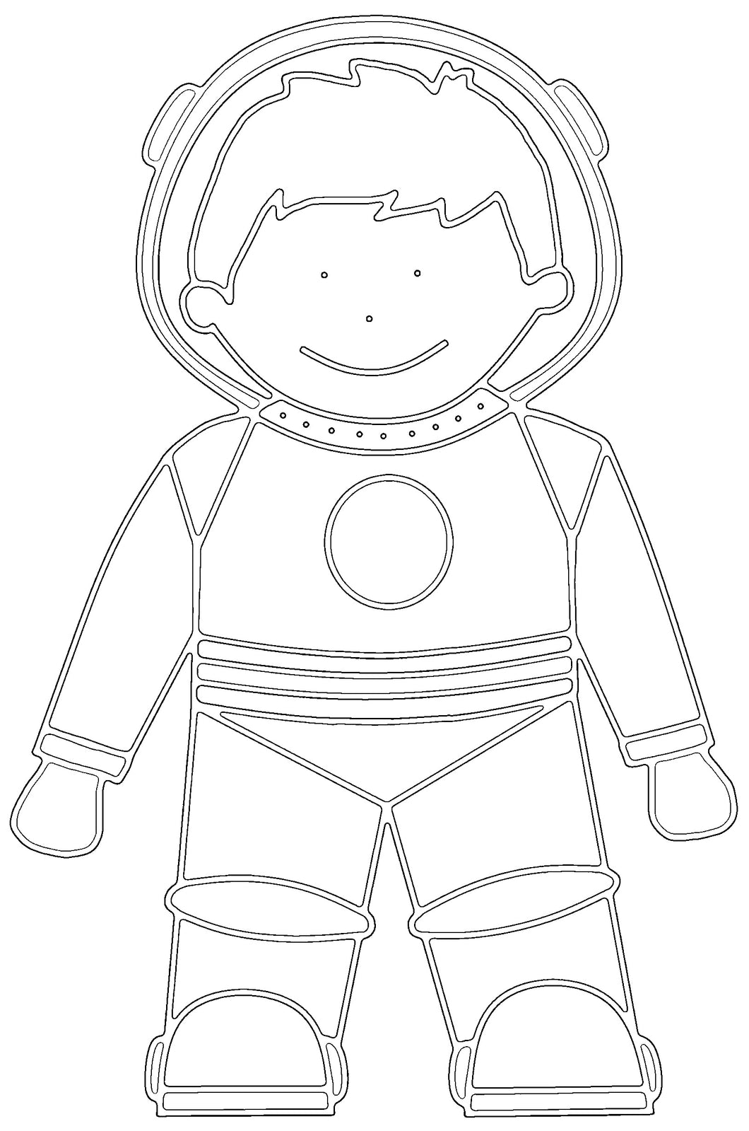 Free Astronaut Printable Colouring In Picture