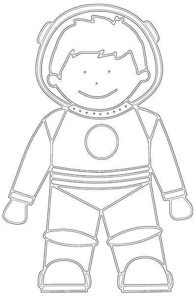 Free Astronaut Printable Colouring In Picture-Storklings-Storklings