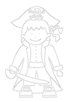 Free Pirate Printable Colouring In Picture-Storklings-Storklings