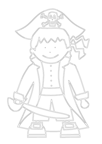 Free Pirate Printable Colouring In Picture