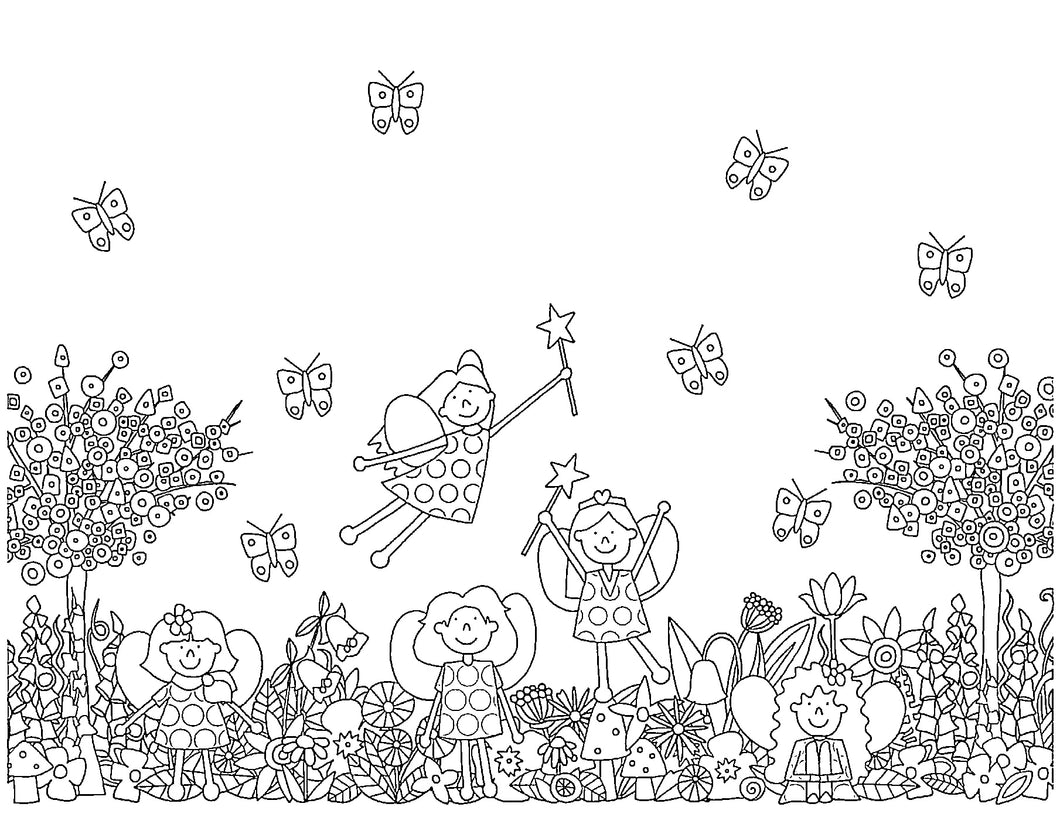Free Printable Fairy Colouring In