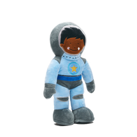 Astronaut Space Shuttle Pilot Pan Permia dressed in his blue spacesuit