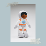 Astronaut Command Module Pilot Buck dressed in his white and orange spacesuit-Soft Toys-Storklings-Storklings