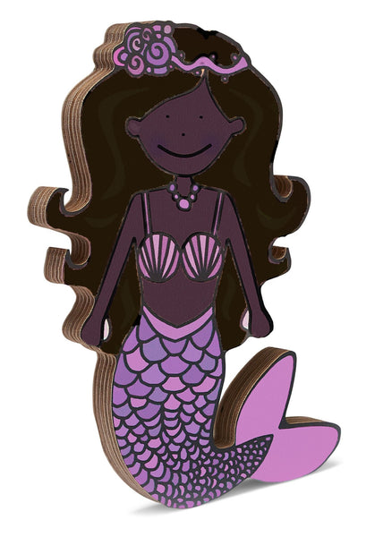 Mermaid wooden shelfie-Wooden shelfies-Storklings-Storklings