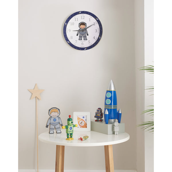 Astronaut 'teach the time' clock-Spaceman clock-Storklings-Storklings