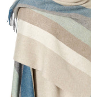 A beautifully woven wool wrap ruana blanket shawl made from 100% merino wool-throws-Storklings-Storklings