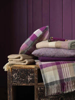 A beautifully woven wool blanket throw in a soft clover checked design-blankets-Storklings-Storklings