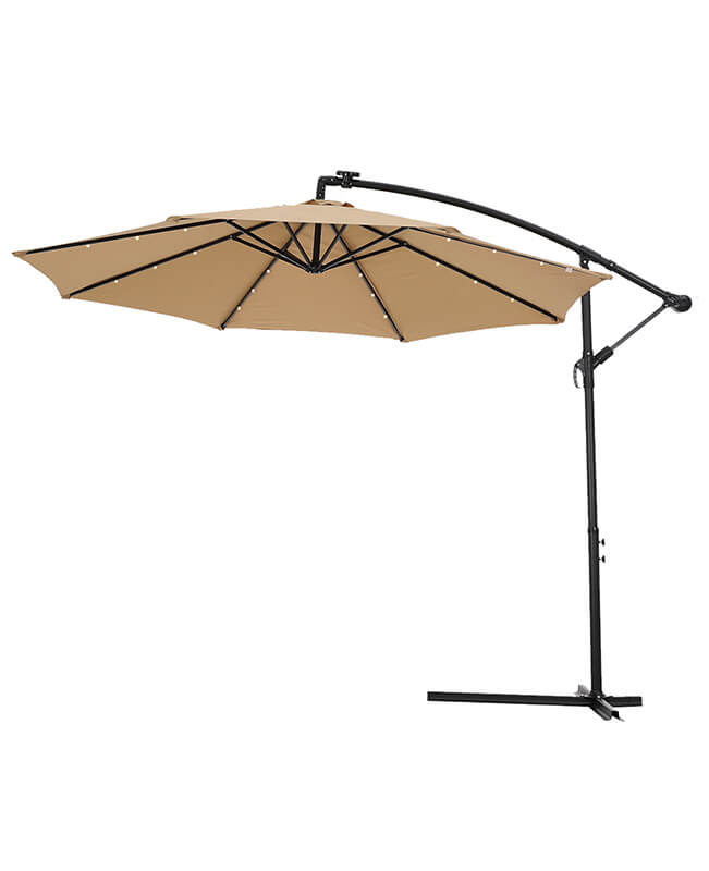 Solar Umbrella 10 FT Patio Umbrella With Lights