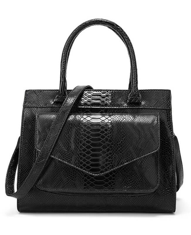Simple Style Tote Snakeskin Handbags