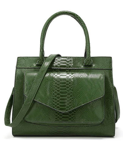 Simple Style Tote Snakeskin Handbags-5