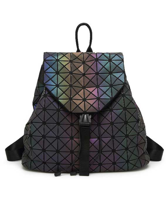 Luminous Geometric Shoulder Backpack School Bag