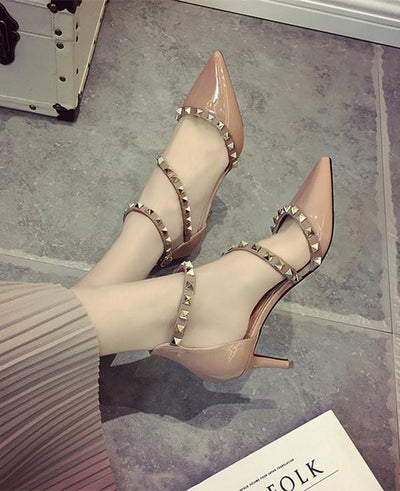 Sexy  High Ankle Strap Thin Heels Party Pumps