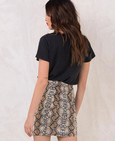 Vintage Serpentine Print Skirt