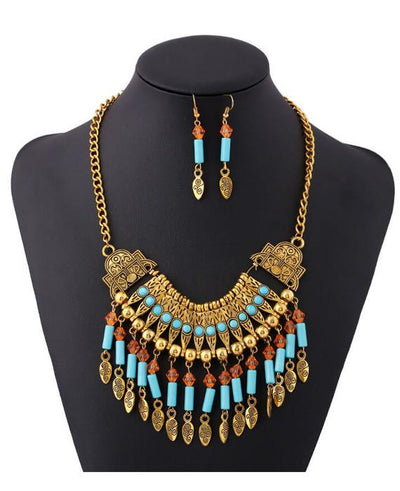 Bohemia Style Jewelry Set Earring and Necklace Set