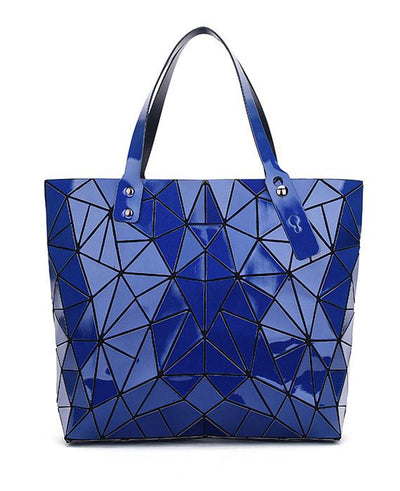 Diamond Geometry Quilted Tote Handbag-2