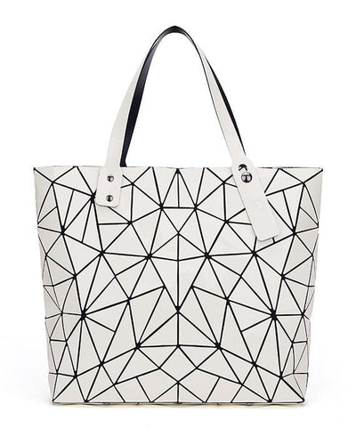 Diamond Geometry Quilted Tote Handbag-3