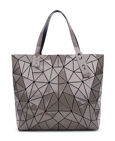 Diamond Geometry Quilted Tote Handbag-4