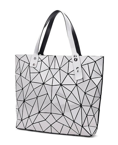 Diamond Geometry Quilted Tote Handbag-7