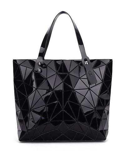Diamond Geometry Quilted Tote Handbag