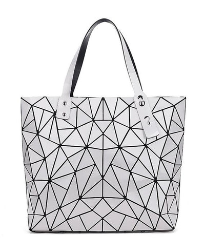 Diamond Geometry Quilted Tote Handbag-6