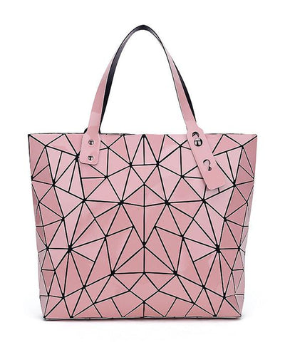 Diamond Geometry Quilted Tote Handbag-5