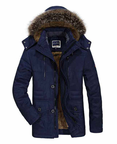 Faux Fur Lined Mens Winter Coat-3