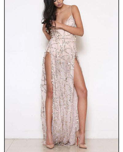 Side Split Sequin Party Dresses