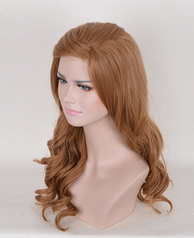 Long Full Curly Wavy Party Lady Girl Brown Flax Hair Wig